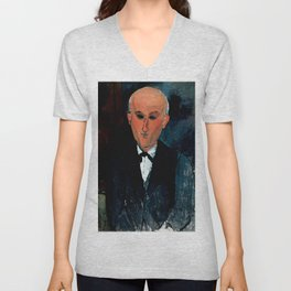 "Amedeo Modigliani ""Max Jacob"" Unisex V-Neck"