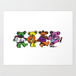 Denver Sports Dancing Bears Art Print