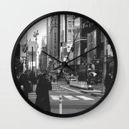 Let my imagination go (B&W) Wall Clock