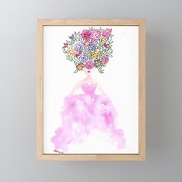 Floral Couture Framed Mini Art Print