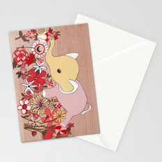 Elephant in the flowers Stationery Cards