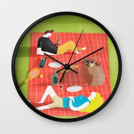 Picnic Season Wall Clock