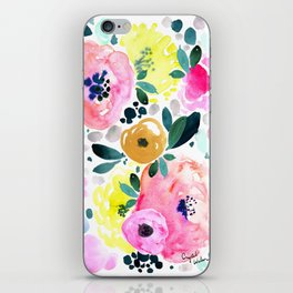 Wake Up Floral iPhone Skin