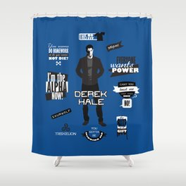 Derek Hale Quotes Teen Wolf Shower Curtain