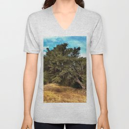 Olive Tree Unisex V-Neck