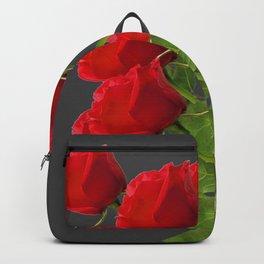 BOUQUET OF  RED LONG STEM ROSES  DESIGN Backpack
