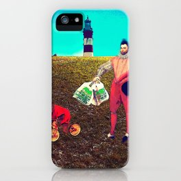 Francis Drake weekly shopping with Bob iPhone Case