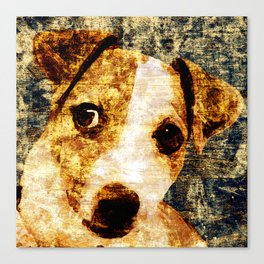 「sit」Jack Russell Terrier Canvas Print
