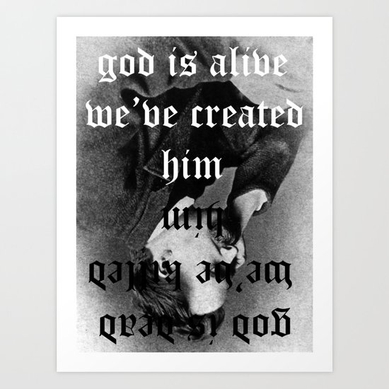god remains dead Art Print