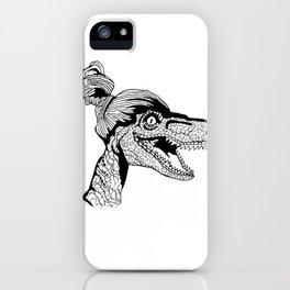 Hipster Velociraptor iPhone Case