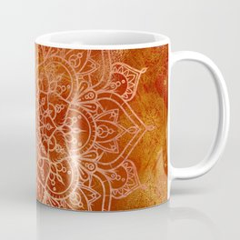 Orange Mandala Coffee Mug