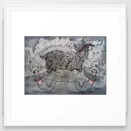 Being Framed Art Print