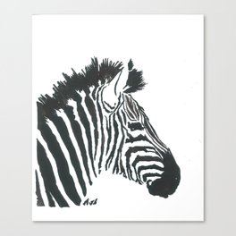 Black Zebra Canvas Print