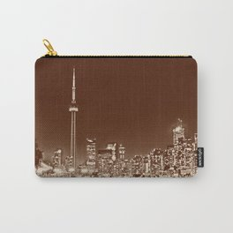 Downtown Toronto Vintage Wall paper Carry-All Pouch