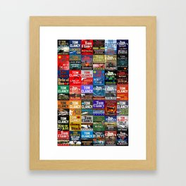 Tom Clancy Books Framed Art Print