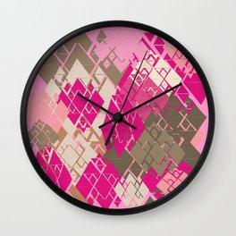 Neopolitan Diamonds Wall Clock