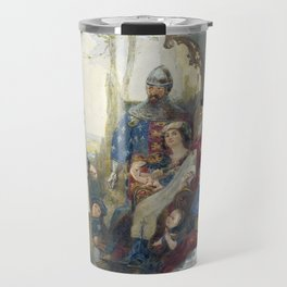 Madox Brown Chaucer at the Court of Edward III Travel Mug
