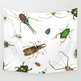 Bug Life - Beetles - Bugs - Insects - Colorful - Insect Pattern Wall Tapestry