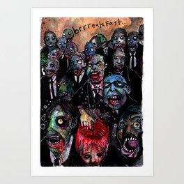 Brrreakfast Art Print