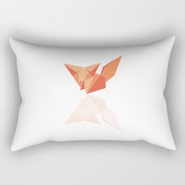 "Collection ""Origami"" impression ""Fox Paper"" Rectangular Pillow"