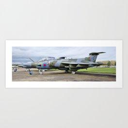 Buccaneer aircraft panoramic Art Print