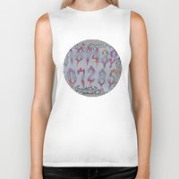 numbers Biker Tanks featuring Numbers! white by gasponce