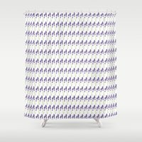 lavender Shower Curtains featuring Lavender by She's That Wallflower