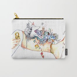 "Original illustration-""Legs City "" Carry-All Pouch"