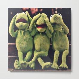 Kermit - Green Frog Metal Print