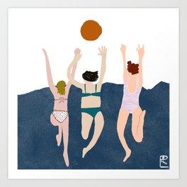 Three Girls Art Print