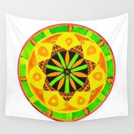 Jamaican Rhythm Mandala Wall Tapestry