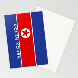flag of North Korea Stationery Cards