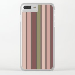 Colorful Stripes 2 Clear iPhone Case