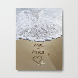 Mr & Mrs Metal Print