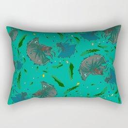 Angry Little Fish Pattern Rectangular Pillow