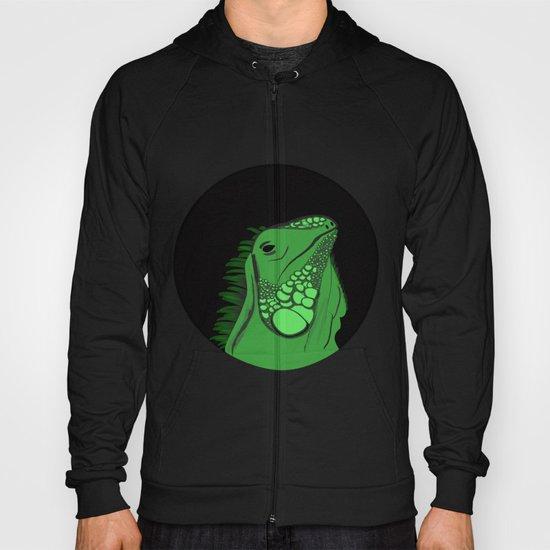 Green Iguana Illustration  Hoody