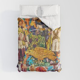 History of Mexico by Diego Rivera Duvet Cover