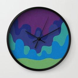 Six Shades of Desert Sunset Wall Clock