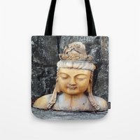 asian Tote Bags featuring ASIAN GODDESS by JANUARY FROST
