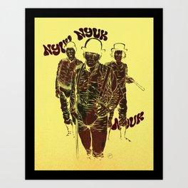 A Clockwork Stooges Art Print