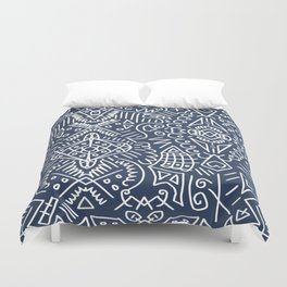 Abstract Rumble No. 01 Duvet Cover
