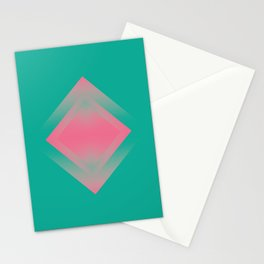 two energies green pink vibrations Stationery Cards
