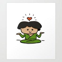 Zen buddy Art Print