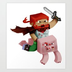 Minecraft Avatar H00j0 Art Print