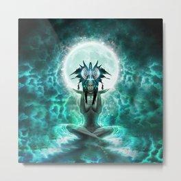 Selene - Moon Goddess - Visionary Art - Manafold Art Metal Print