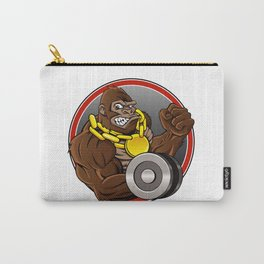 Angry gorilla with dumbbell  Carry-All Pouch