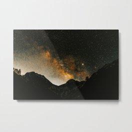 Alpine Milky Way Metal Print