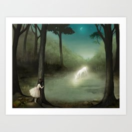 No One Would Ever Believe Her Art Print