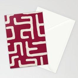 Kuba in oxblood Stationery Cards