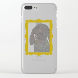 """""""The Scribbler"""" ~ Dachshund, Weiner Dog, Doxie, everywhere! Clear iPhone Case"""